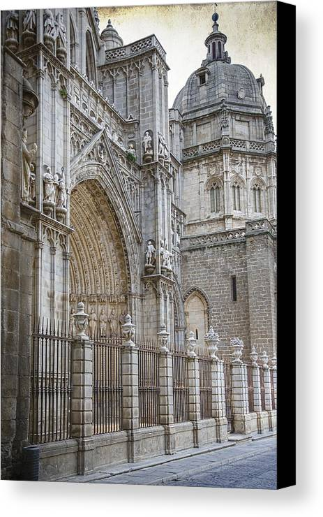 Ancient Canvas Print featuring the photograph Gothic Splendor Of Spain by Joan Carroll