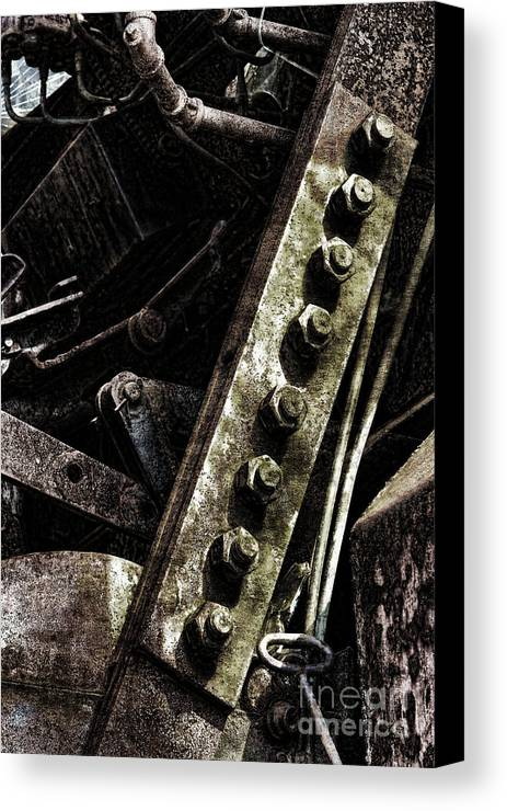 Industrial Canvas Print featuring the photograph Grunge Industrial Machinery by Olivier Le Queinec
