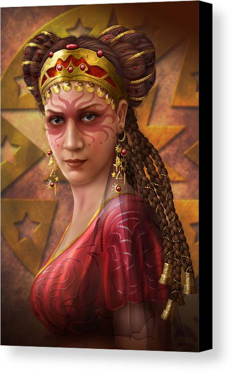 Ciro Marchetti Canvas Print featuring the digital art Gypsy Woman by Ciro Marchetti