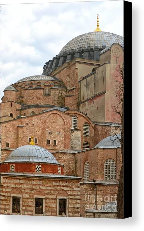 Turkey Canvas Print featuring the photograph Hagia Sophia 04 by Antony McAulay