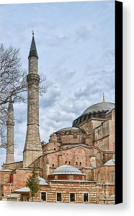 Turkey Canvas Print featuring the photograph Hagia Sophia 07 by Antony McAulay