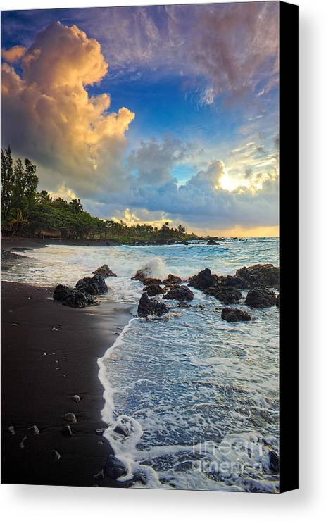 America Canvas Print featuring the photograph Hana Clouds by Inge Johnsson