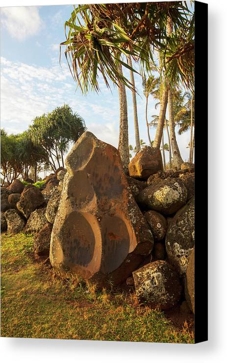 Douglas Peebles Canvas Print featuring the photograph Hikina'akala Heiau, Wailua River State by Douglas Peebles