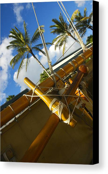 Hokule`a Canvas Print featuring the photograph Hokulea by Christine Cole