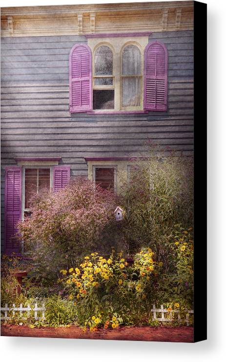Victorian Canvas Print featuring the photograph House - Victorian - A House To Call My Own by Mike Savad