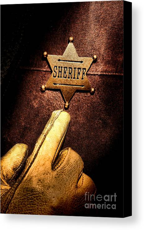 Sheriff Canvas Print featuring the photograph I Am The Law by Olivier Le Queinec