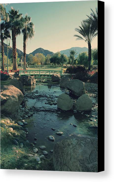 La Quinta Civic Center Canvas Print featuring the photograph I'll Never Say Goodbye by Laurie Search