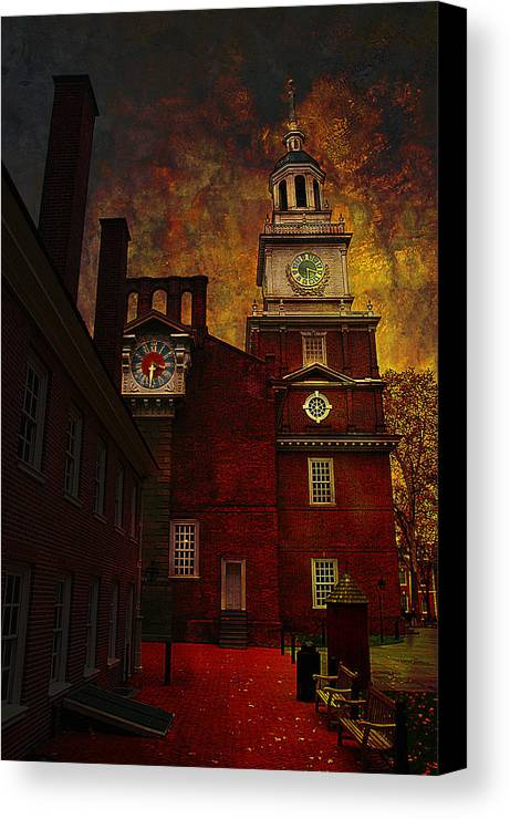 Philadelphia Canvas Print featuring the photograph Independence Hall Philadelphia Let Freedom Ring by Jeff Burgess