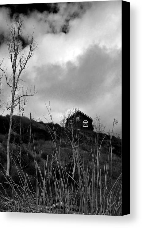 Barn House Canvas Print featuring the photograph Infrared Barn by Doug Dailey