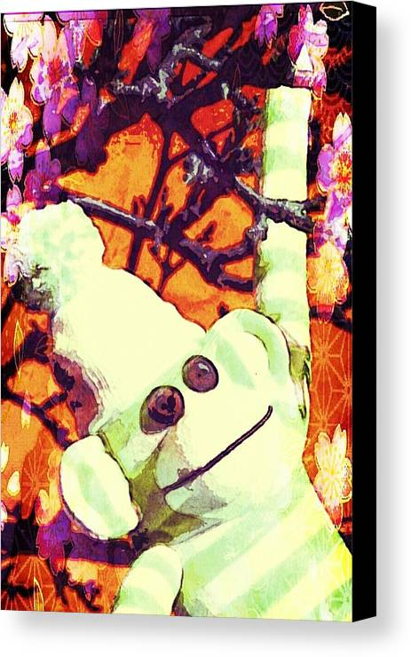 Painting Canvas Print featuring the mixed media Just Hangin' by Jessica Lea