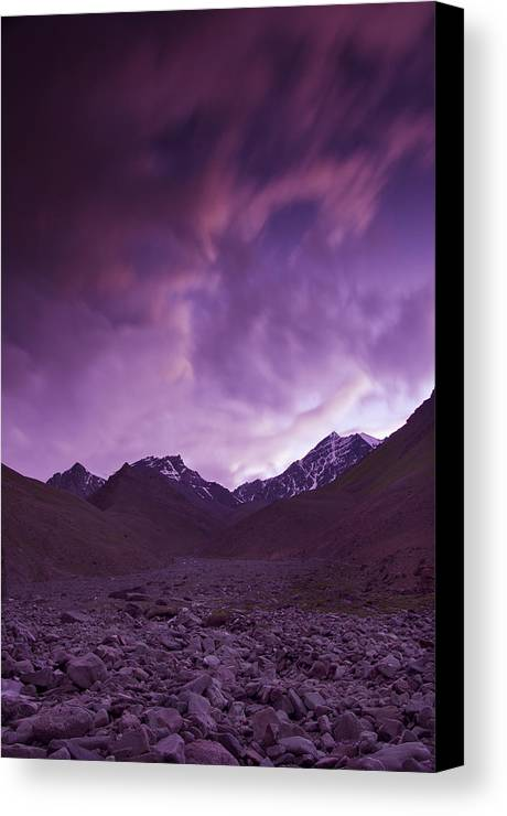 Mountains Canvas Print featuring the photograph Kangri Twilight by Aaron Bedell
