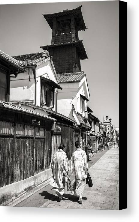 Daytrip Canvas Print featuring the photograph Kawagoe Bell Tower by For Ninety One Days
