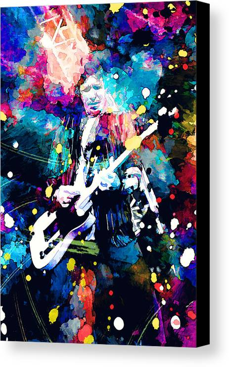 Rolling Stones Canvas Print featuring the painting Keith Richards by Rosalina Atanasova