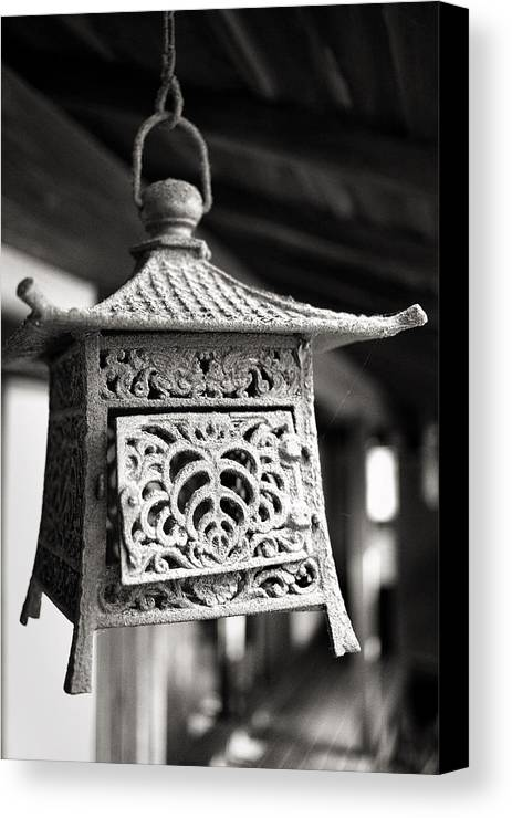 Candy Street Canvas Print featuring the photograph Kita-in Temple Iron Lantern In Kawagoe by For Ninety One Days