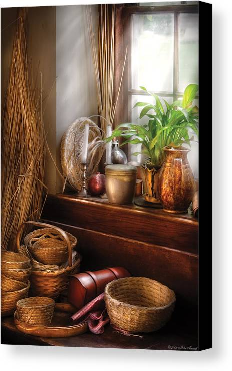 Chef Canvas Print featuring the photograph Kitchen - Try To Keep Busy by Mike Savad