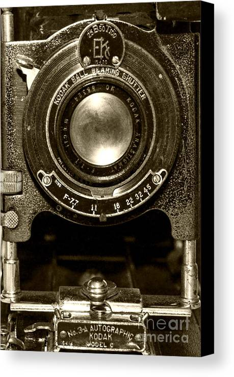 Kodak Canvas Print featuring the photograph Kodak Autographic by Baywest Imaging