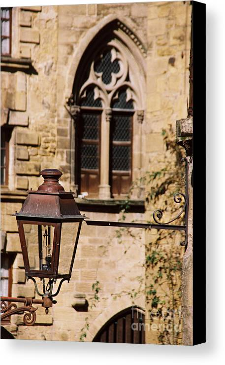 Lamp Canvas Print featuring the photograph Lamp In Sarlat by Kyla Applegate