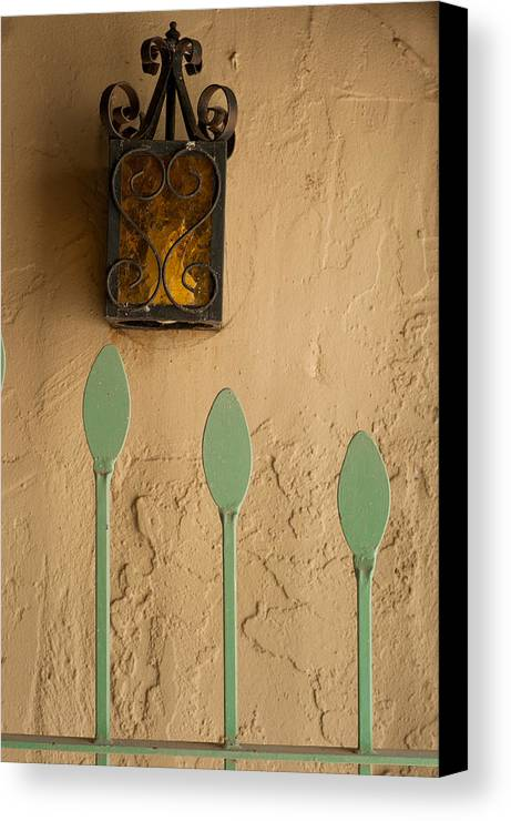 Fence Canvas Print featuring the photograph Lamp by Steve Wile