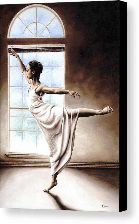 Dance Canvas Print featuring the painting Light Elegance by Richard Young