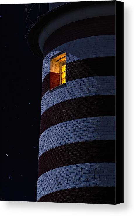 Lighthouse Canvas Print featuring the photograph Light From Within by Marty Saccone