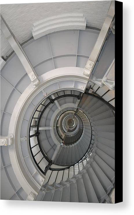 Rd Erickson Canvas Print featuring the photograph Lighthouse Stairs 2 by rd Erickson