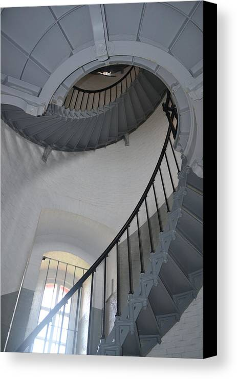 Rd Erickson Canvas Print featuring the photograph Lighthouse Stairs 3 by rd Erickson