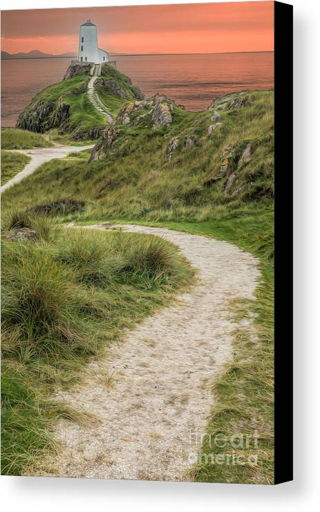 Anglesey Canvas Print featuring the photograph Lighthouse Trail by Adrian Evans