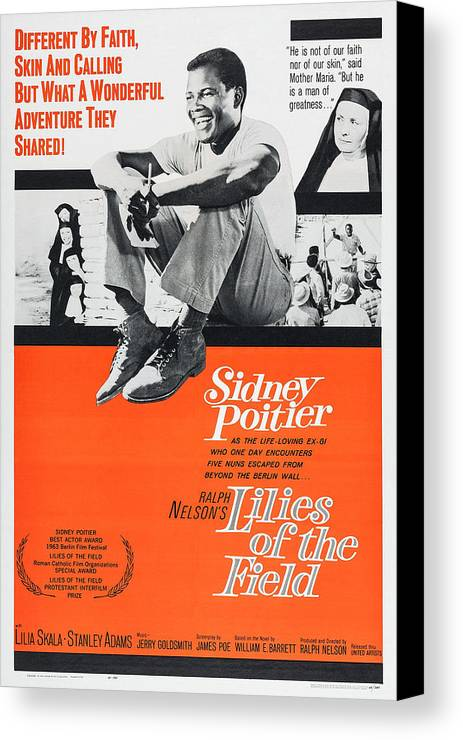 1960s Movies Canvas Print featuring the photograph Lilies Of The Field, Sidney Poitier by Everett