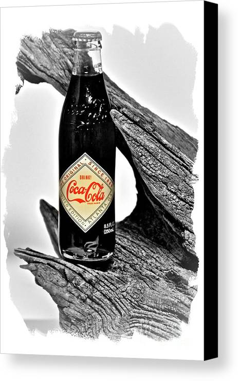 Limited Edition Bottles Canvas Print featuring the photograph Limited Edition Coke - No.15 by Joe Finney