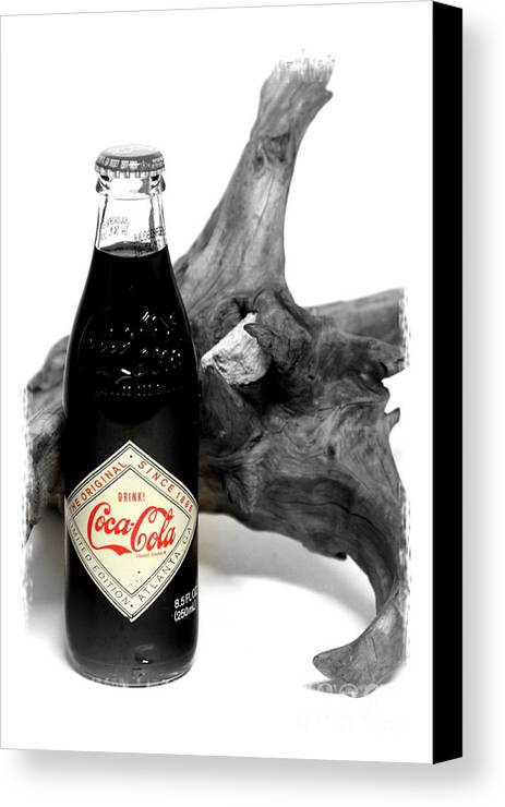 Limited Edition Bottles Canvas Print featuring the photograph Limited Edition Coke - No.438 by Joe Finney