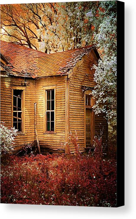 Old School House Canvas Print featuring the photograph Little Old School House II by Julie Dant