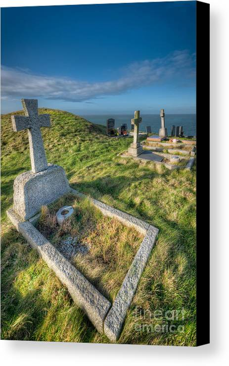 Anglesey Canvas Print featuring the photograph Llanbadrig Cemetery by Adrian Evans