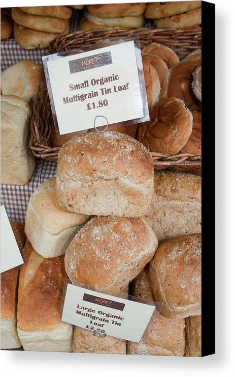 Cumbria Canvas Print featuring the photograph Loaves Of Organic Bread by Ashley Cooper