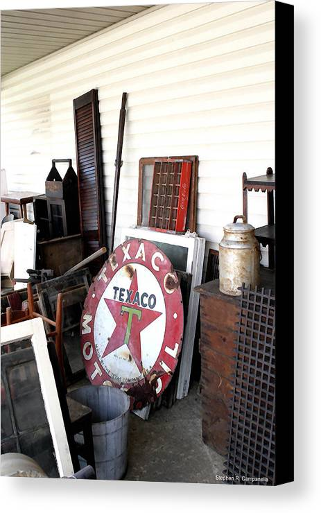 Texaco Canvas Print featuring the photograph Lone Star by Stephen Campanella