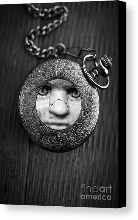 Creepy Canvas Print featuring the photograph Look Behind You by Edward Fielding