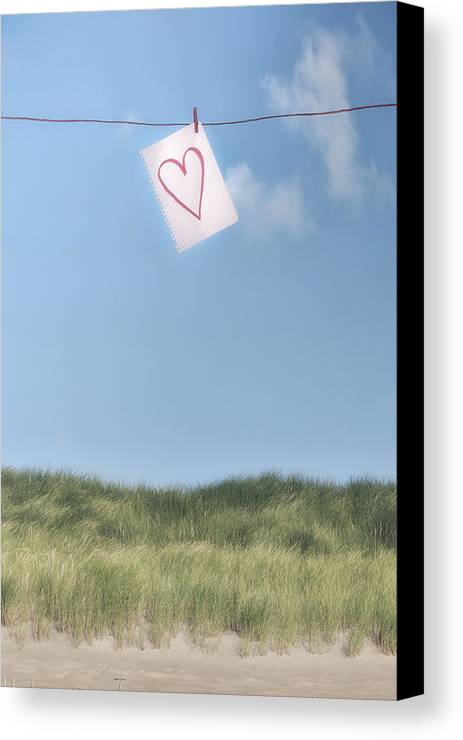 Sheet Canvas Print featuring the photograph Love Letter From Cloud 9 by Joana Kruse