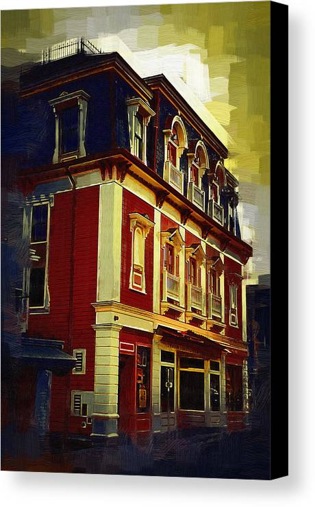 Architecture Canvas Print featuring the painting Main Street Usa by Kirt Tisdale