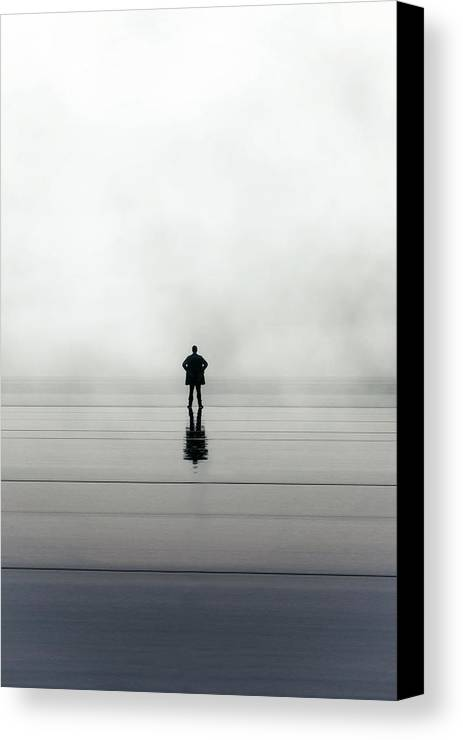 Young Canvas Print featuring the photograph Man Alone by Joana Kruse