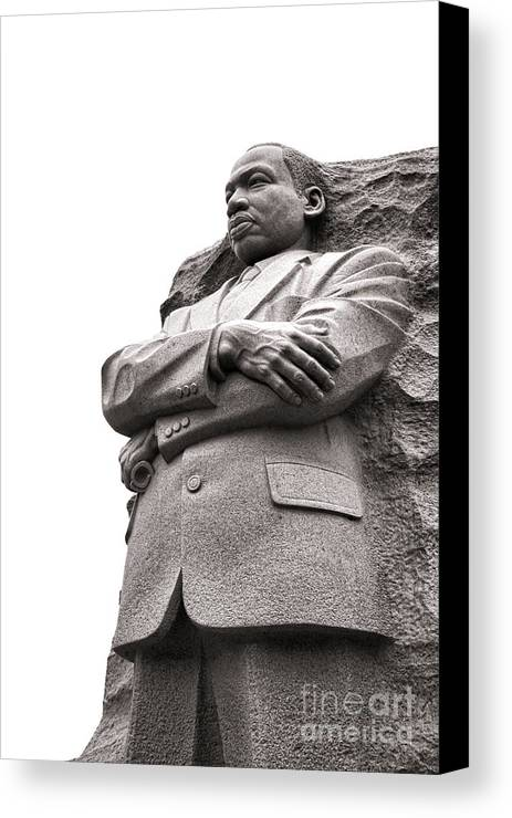 Washington Canvas Print featuring the photograph Martin Luther King Memorial Statue by Olivier Le Queinec