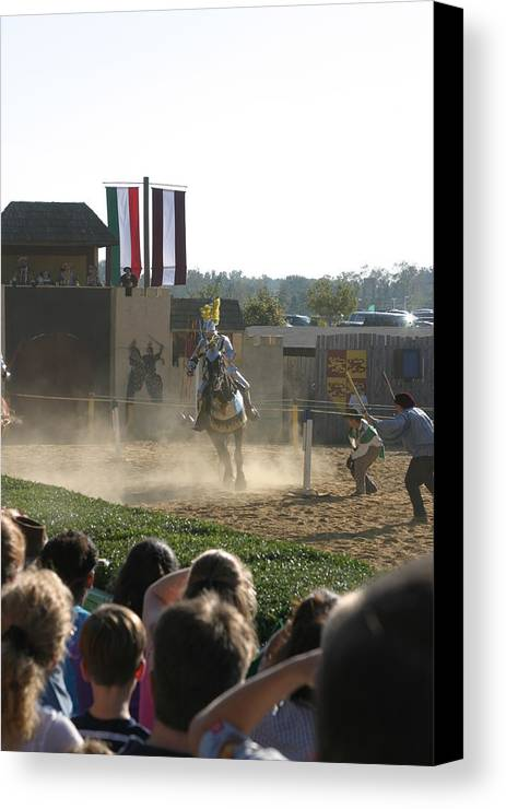 Maryland Canvas Print featuring the photograph Maryland Renaissance Festival - Jousting And Sword Fighting - 1212174 by DC Photographer