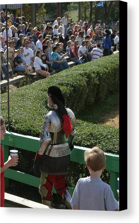 Maryland Canvas Print featuring the photograph Maryland Renaissance Festival - Jousting And Sword Fighting - 1212198 by DC Photographer