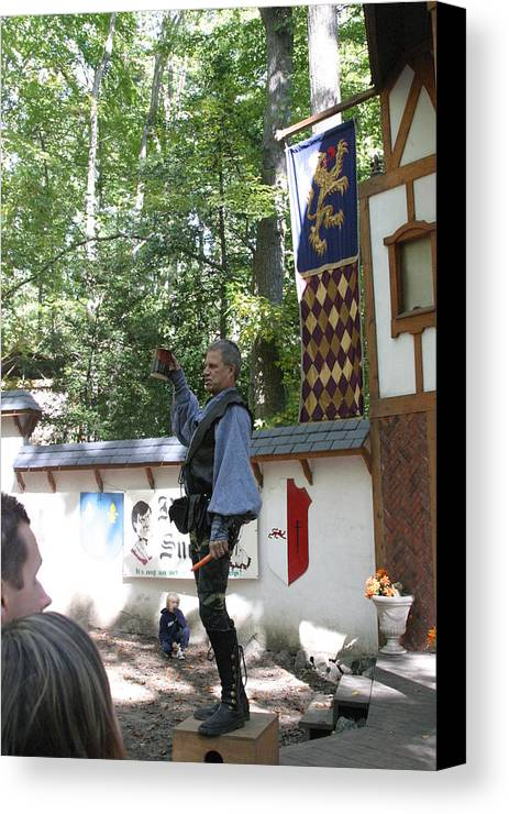 Maryland Canvas Print featuring the photograph Maryland Renaissance Festival - Puke N Snot - 12122 by DC Photographer