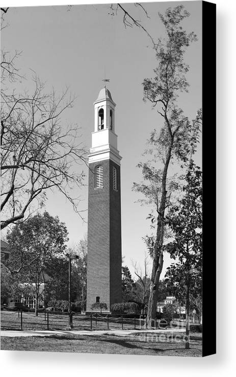 Miami University Canvas Print featuring the photograph Miami University Beta Bell Tower by University Icons