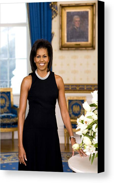 Admiral Canvas Print featuring the digital art Michelle Obama by Official White House Photo