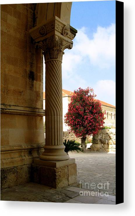 Holy Land Canvas Print featuring the photograph Mount Tabor Serenity by Nieves Nitta