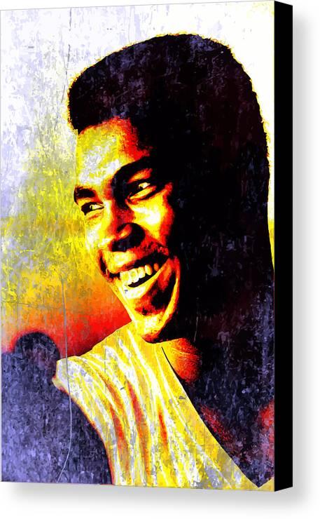 Muhammad Ali Canvas Print featuring the digital art Muhammad Ali by John Novis
