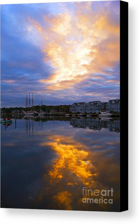 Mystic Canvas Print featuring the photograph Mystic Rush Hour by Joe Geraci
