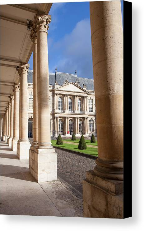 France Canvas Print featuring the photograph National Archives Of France by W Chris Fooshee