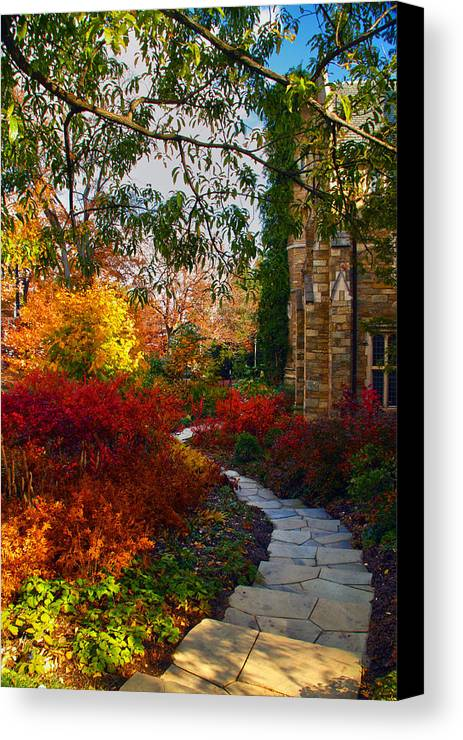 National Cathedral Canvas Print featuring the photograph National Cathedral Path by Mitch Cat