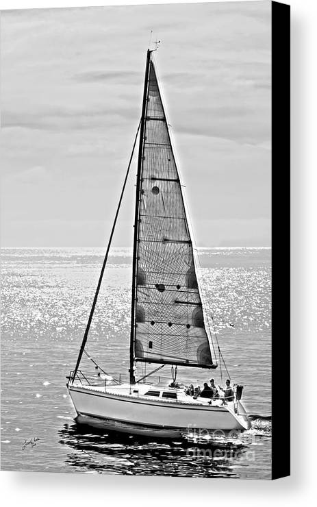 Sailboat Canvas Print featuring the photograph New Dawn - Sailing Into Calm Waters by Artist and Photographer Laura Wrede